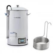 Klarstein Mundschenk + Aufwärtsspirale, малцов котел и подвижен охладител, пивовар, 2500 W, 30 l, 304 неръждаема стомана (PL-0521)