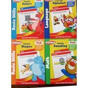 Playskool Workbooks & Puzzles PreK Preschool Basic Skills 4-pack - Learn Colors Shapes Alphabet Gift Set