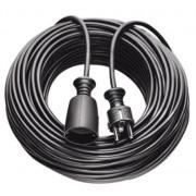 Hosszabítókábel 3m fekete H05VV-F 3G1,5