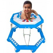 Suraj Baby blue color 8 wheel musical Walker for your kids Se-W-54