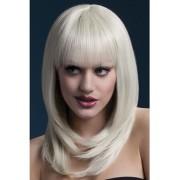 Fever Perruque à Cheveux Longues avec Frange - Blonde