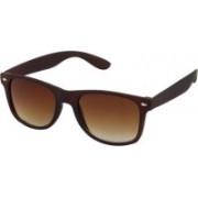 Flynn Wayfarer, Rectangular Sunglasses(Brown)