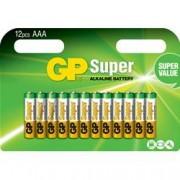 Gp Batteries Blister 12 Batterie AAA Mini Stilo GP Super