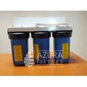"""CARCASA SPARTAN BLUE TRIO 10"""" CU CADRU METALIC AZURA FILTERS"""
