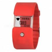 KELIMA X6 Pulsera Inteligente Bluetooth Pulsera Transparente Transparente - Rojo