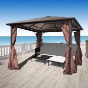 vidaXL Pavilion maro aluminiu 300 x cm, rezistent la intemperii