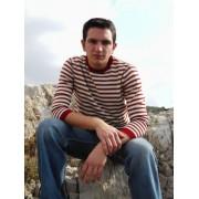 Elle Creazioni Dallas Sweater Red/White/Beige
