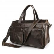 Delton Bags Reisetasche aus verblichenem schwarzen Leder