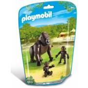 Gorila cu pui City Life Zoo Playmobil