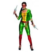 Nickelodeon Secret Wishes Disfraz de Raphael de Las Tortugas Ninja Mutantes Adolescentes para Mujer, Multicolor, S