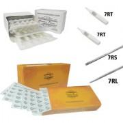 MUMBAI TATTOO NEEDLES 7RL 7RS ROUND LINER SHADER WITH TIPS 7RT 7RT (PACK OF 2 ORANGE BOX 2 BOX TIPS)