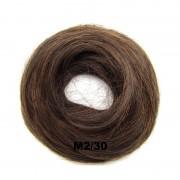 Příčesek - drdol na gumičce střapatý (M2/30 (mix tmavá pralinka/světlý kaštan)) - Světové Zboží