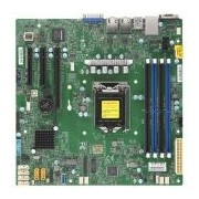 Supermicro mainboard server X11SCL-F Single Socket H4 (LGA 1151), 6 SATA3 (6Gbps) ports; RAID 0, 1, 5, 10; 2x 1GbE LAN with Intel i210-AT; 1 PCI-E 3.0 x8 (in x16), 2 PCI-E 3.0 x4 (in x8), retail (X11SCL-F)