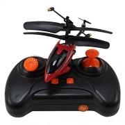 Haoxin Mini Rc Helicopter, Plane Smart 3.5 Channel Infrared With Led Light Office Toy For Relax Ready To Fly Remote Control Toys Red