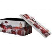 [en.casa]® Skládací taburet - s úložným prostorem - London - 76 x 38 x 38 cm