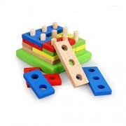 Star Mall Wooden Geometric Shape Sorting Board Baby Plan Toys