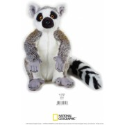 Jucarie Plus Venturelli - National Geographic Lemur in picioare 30 cm - AV770757