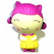Cute Cartoon Smiling Girl espuma PU juguete blando - color mezclado