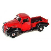 1941 Plymouth Pickup Truck, Red Motormax 73278 1/24 Scale Diecast Model Toy Car