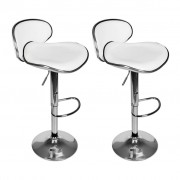 vidaXL Комплект от два бели бар стола