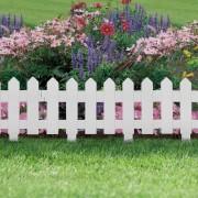 Virágágyás szegély / kerítés – fehér 40,5 x 29,5 cm