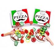 Pizza Party - 2 pack combo - Kids Pizza Play Set with over 50 toppings