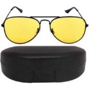 Mundkar Aviator Sunglasses(Yellow)