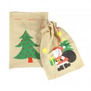 Merkloos Kerstman cadeauzak kerstman 60 x 90 cm