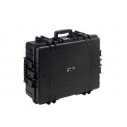 B&W hardcase typ 6500 svart med skumskydd