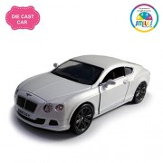 Smiles Creation Kinsmart 1:38 Scale 2012 Bentley Continental GT Speed Car Toys, Silver (5-inch)