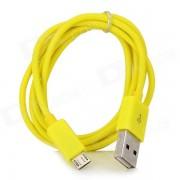 Micro USB macho a USB 2.0 macho de carga / Cable de datos para Samsung / HTC / LG + mas - amarillo (1m)