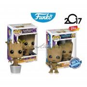 Set 2 Groot & Dancing Groot Funko Pop Guardian Of The Galaxy Pelicula
