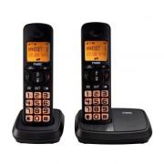 Telefon fix Duo Dect (set doua telefoane fara fir) Fysic FX-5520 TWIN cu ecran si butoane mari pentru seniori