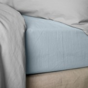 Drap housse 140x190 cm Percale Pearl Blue