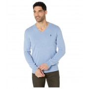 Polo Ralph Lauren Cotton V-Neck Sweater New Campus Blue Heather