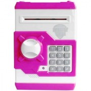 Money Safe Kids Savings ATM Bank with Electronic Lock Coin Bank Coin Bank (Multicolor)
