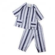 ≪CLEAL HOUSE≫綿100%婦人パジャマ ストライプ柄・六分袖×七分丈パンツ(コン)
