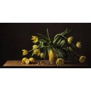 Werk aan de Muur Schilderij Stilleven tulpen - Poster - 60x30