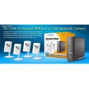 Compro BR-04400 RS-2104 + 4x CS60 security camera kit