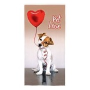 TOALHA AVELUDADA PET LOVE 61390 - LEPPER - BEGE