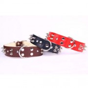 COBBYS PET Obojek Leather-Felt with spikes 35mm/55cm