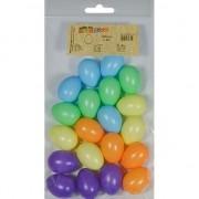 Geen 20x Gekleurde kunststof eieren decoratie 4 cm hobby
