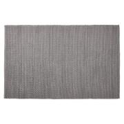 Tapis design 'COVER' 160x230 cm gris en coton
