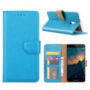 Luxe Lederen Bookcase hoesje voor de Nokia 2.1 - Blauw