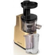 Redmond RJ-910S-E Slow | Cold-pressing system squeezes fresh juice 200 W Juicer(Gold, Black, 1 Jar)