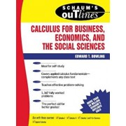 Schaum's Outline of Calculus for Business, Economics, and the Social Sciences, Paperback/Edward T. Dowling