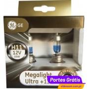 GE Megalight Ultra + 130 H11 12v 55w PGJ19-2 ( 2 Lâmpadas )