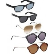 David Martin Aviator Sunglasses(Black, Brown, Grey, Silver)