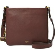Fossil Women Brown Genuine Leather Hand-held Bag