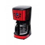 Cafetiera digitala Heinner HCM-D1500RDIX, 900 W, 1.5 L, timer, display Led, fara BPA, rosu-negru